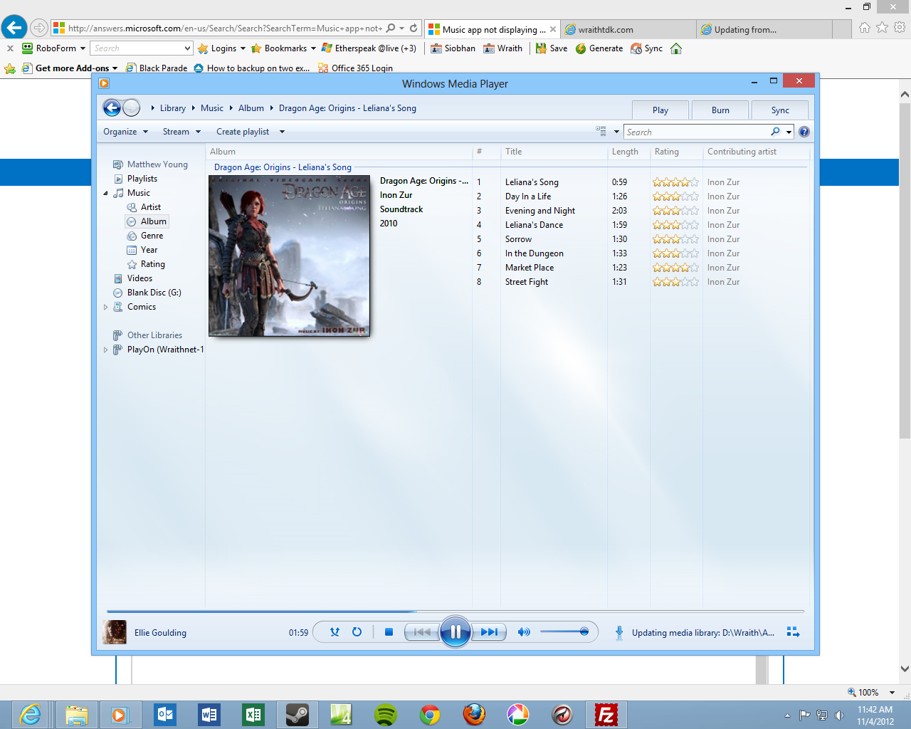 windows media player how to change album art